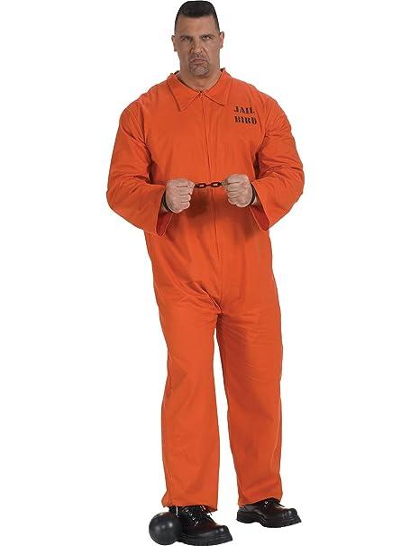 Amazon.com: Disfraz de prisionero para adulto con mono ...