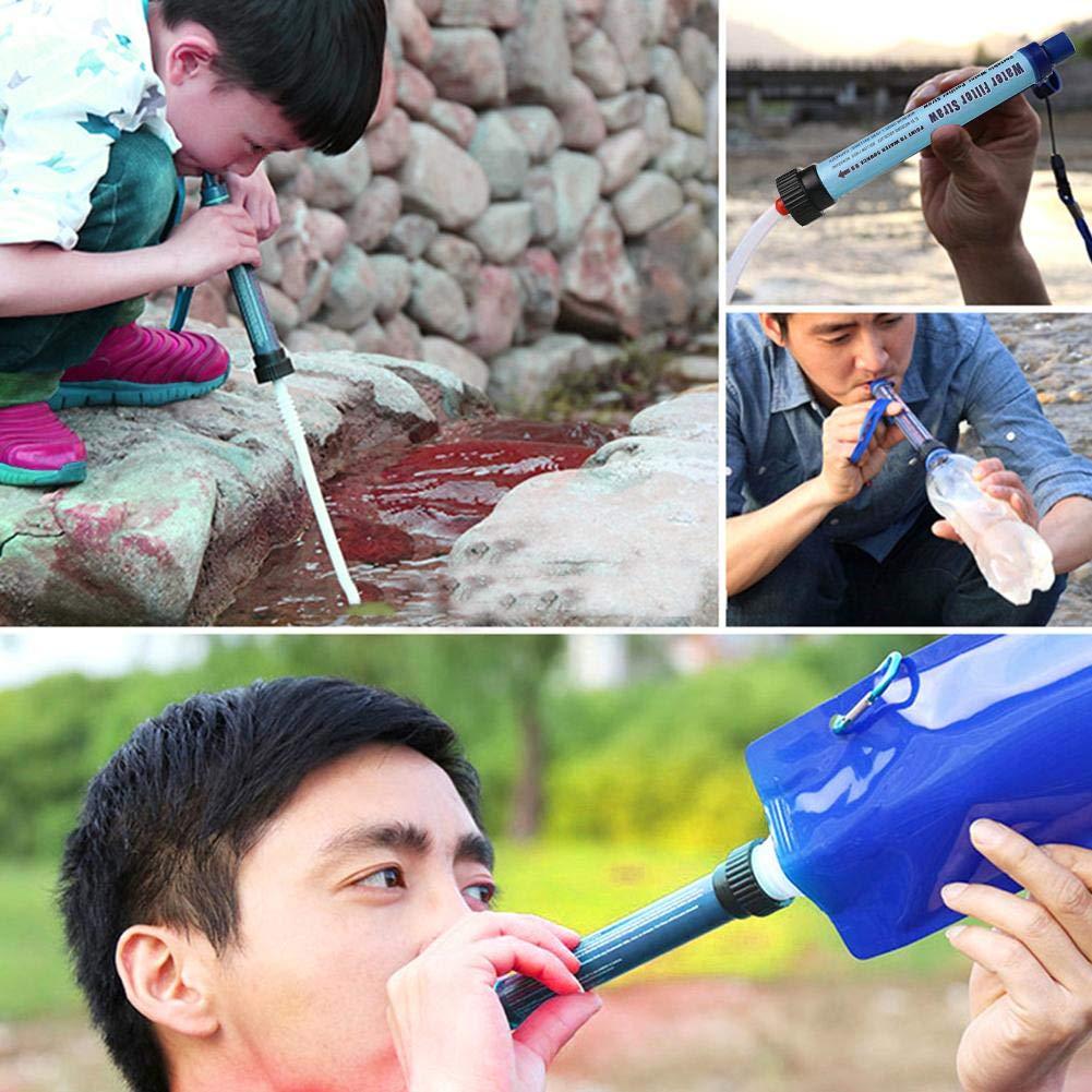 biteatey Purificador de Agua al Aire Libre Salvavidas Herramientas de purificaci/ón de Agua Micro Ultrafiltraci/ón Purificador de Agua para monta/ñismo Senderismo Ciclismo Camping