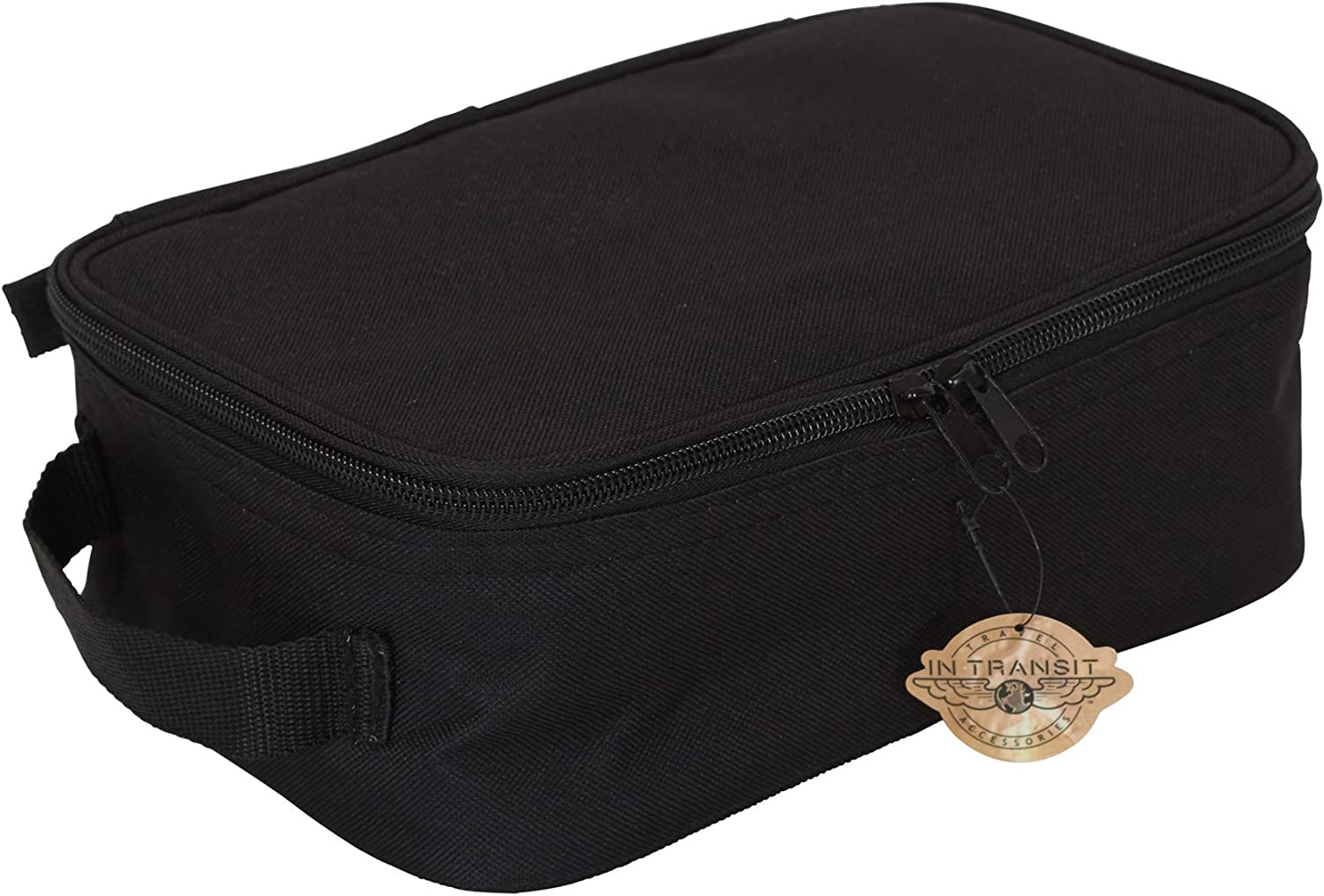 Household Essentials 6706 Grooming Toiletry Travel Bag Organizer for Men and Women Black