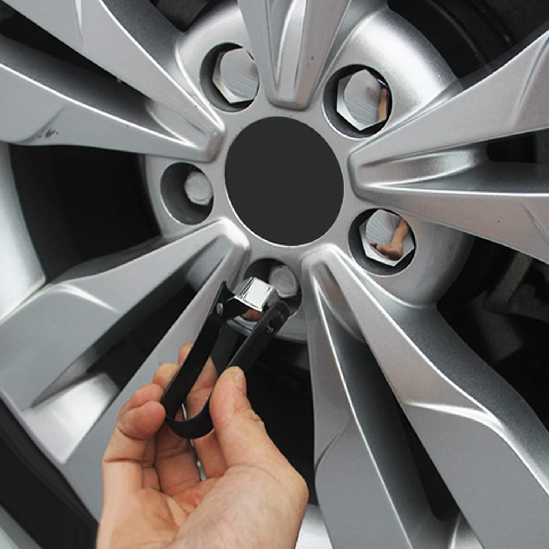 Vococal-20 UNIDS 17mm Cubierta de Tornillo de Tuerca de Rueda de Coche de Pl/ástico Universal con Clip Compatible con Ford SUV Jeep Volkswagen Audi BMW Plata