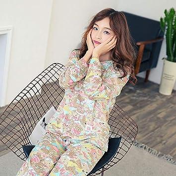 7ee717667b XGBNY Pijamas Camisa De Manga Completa Para Mujer Pantalones Conjuntos De  Pijamas De Dos Piezas Ropa