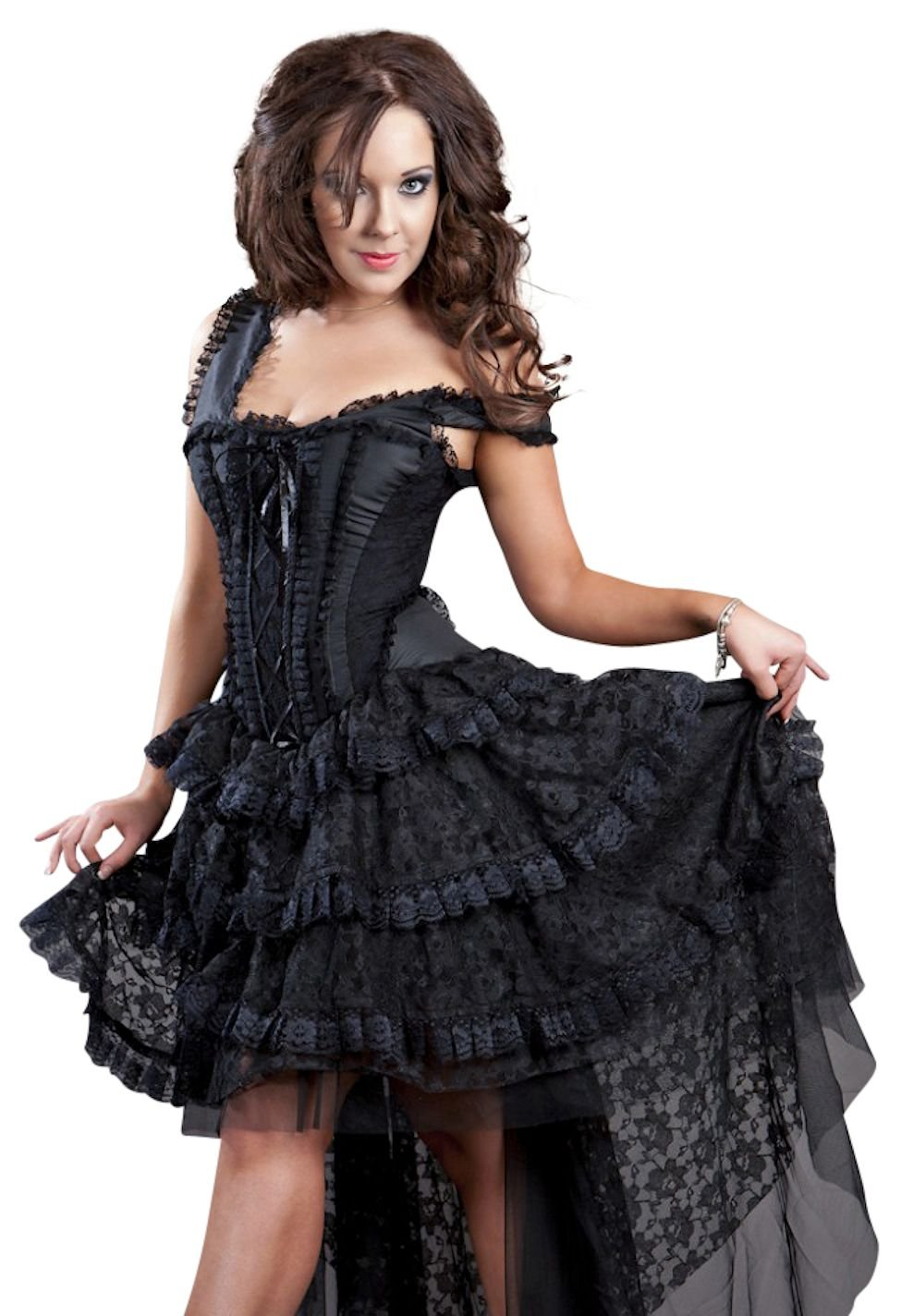 Burleska Womens Ophelie Steampunk Corset Dress 3