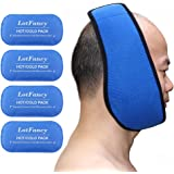 LotFancy Reusable Hot or Cold Gel-Pack with Stretch Wrap, Pain Relief for TMJ, Chin Jaw Oral and Facial Surgery, Dental Implants etc.