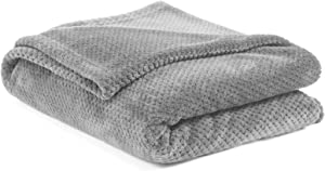 Ophanie Plush Flannel Blanket, 90' x 90', Soft and Breathable Throw for Bed, Sofa, or Home Decor, Luxury Comfort for Camping, Travel, or Sleep, Light, Dual-Sided Material, Grey