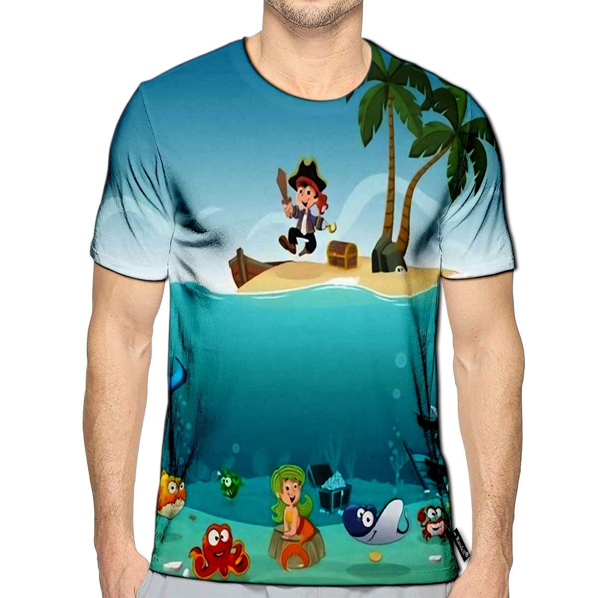 Randell 3D Printed T-Shirts Slogan Faraway Fashion Short Sleeve Tops Tees