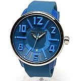 [テンデンス]Tendence 腕時計 G-47 ブルー 46mmケース シリコンラバー クォーツ TG730003 メンズ 【並行輸入品】