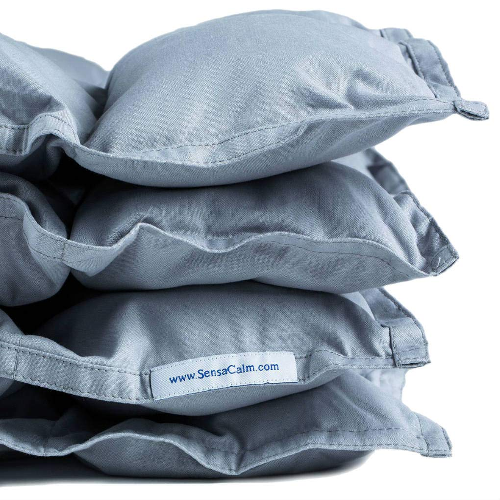 SensaCalm Therapeutic Small Weighted Blanket Light Gray, 8 lb (for 70 lb Child) sleep blankets - 715XBKAXvhL - Sleep blankets review – benefits of sleeping with weighted blankets