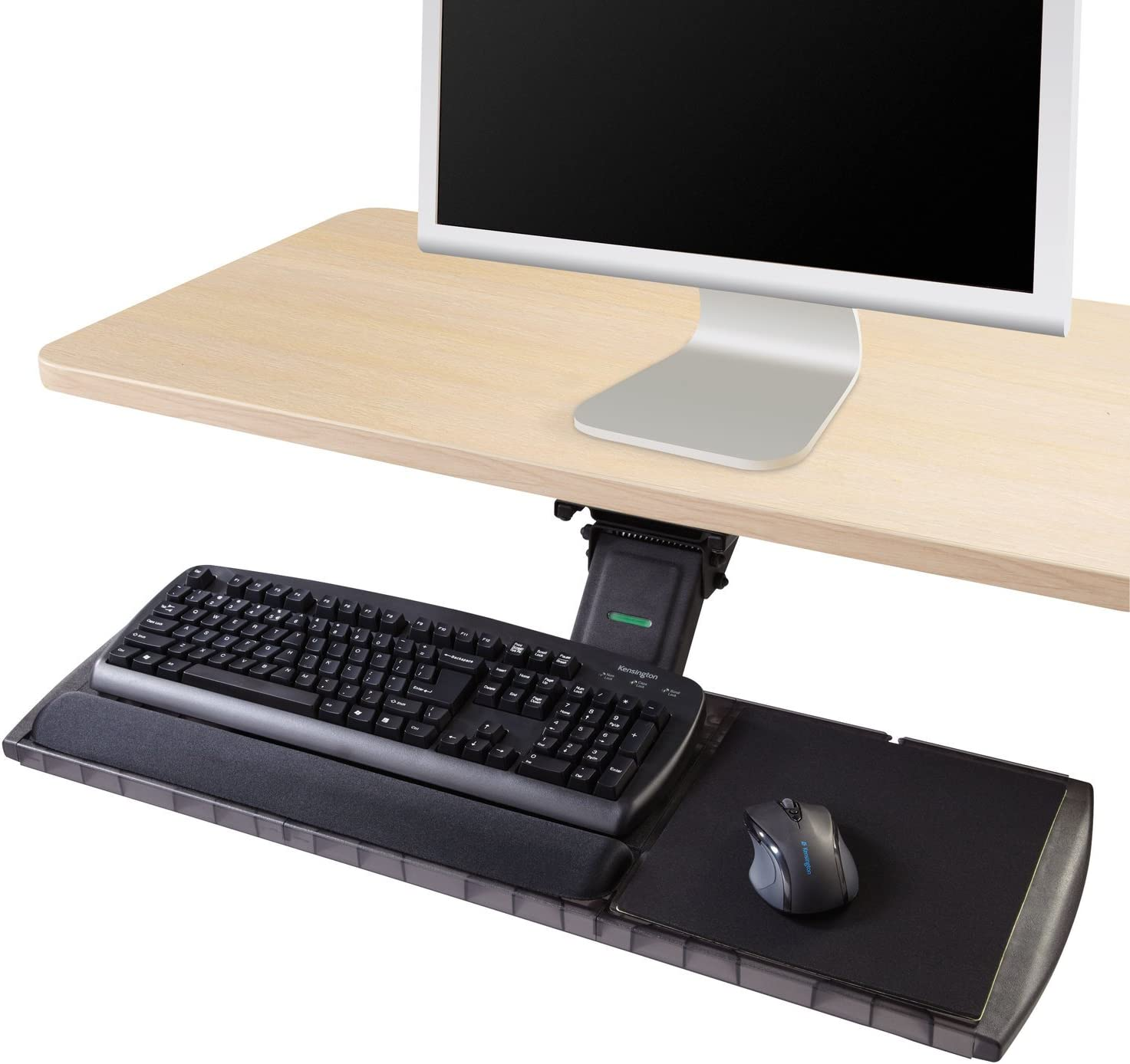 Kensington 60718 Adjustable Keyboard Platform with SmartFit System, 21-1/4w x 10d, Black