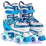 Sulifeel Ice Snow Ruedas Patines Roller con Luces Ajustables para Niñas y Niños