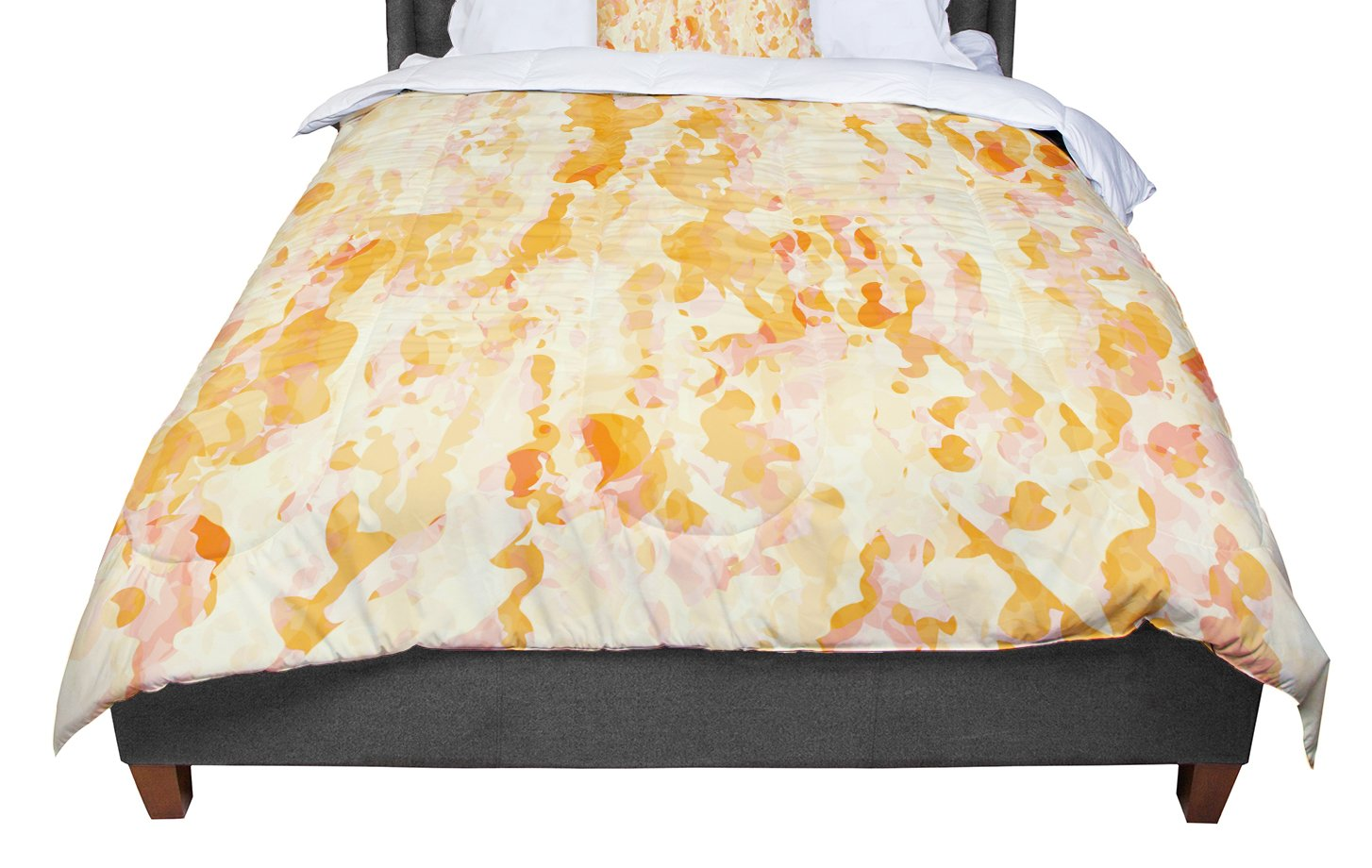 KESS InHouse CarolLynn Tice Explosion Orange Twin Comforter 68 X 88