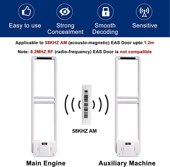 EAS 5000 AM Security Labels for Sensormatic//Tyco Fake Barcode 58 Khz