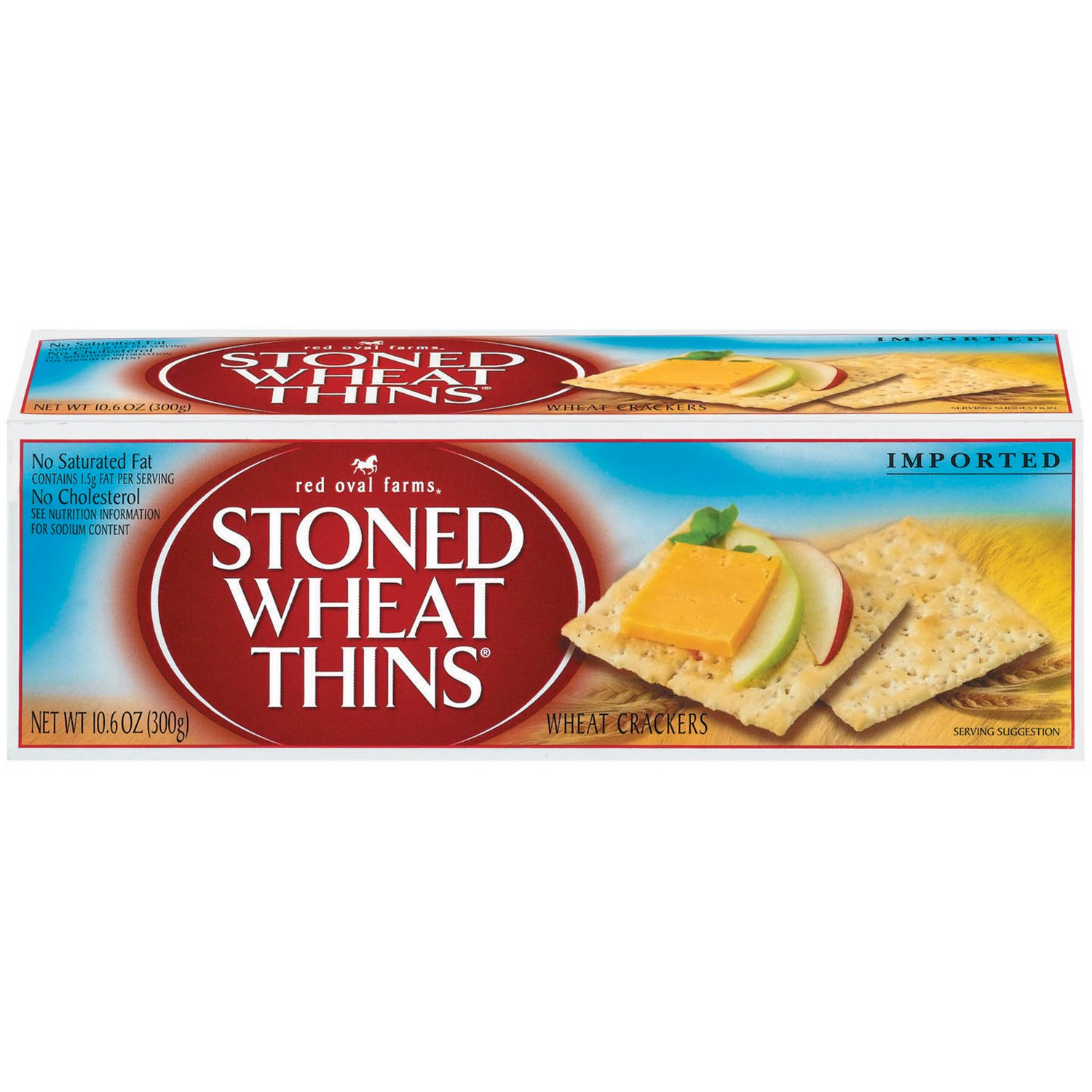 Red Oval Farms Stoned Wheat Thin Crackers, 10.6 Ounce (Pack of 12) by Wheat Thins (Image #1)