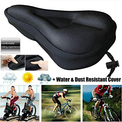 Cycling Bike Saddle Soft Cushion Bicycle Seat Cover Riding Cover Breathable Gel