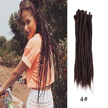 Amazon Haiquan Handmade Dreadlocks Extensions Reggae Hair Dark