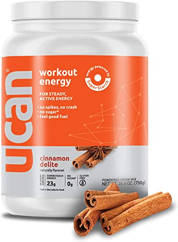 UCAN Workout Energy Powder with SuperStarch – Cinnamon Flavor 26.5oz, 30 Servings