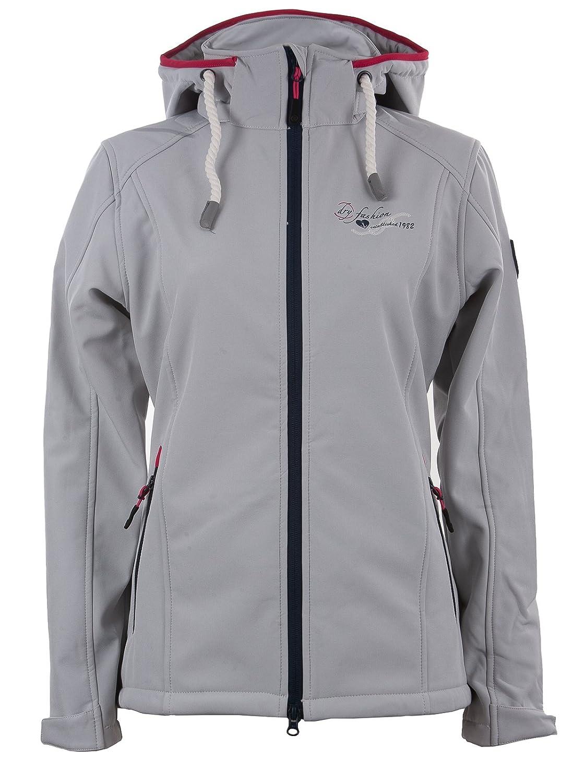 "Dry Fashion Softshell Jacke Damen   Modell ""Hooge    Funktionsjacke & Frühlingsjacke Mit Kapuze   Atmungsaktiv, Wind & Wasserabweisend"
