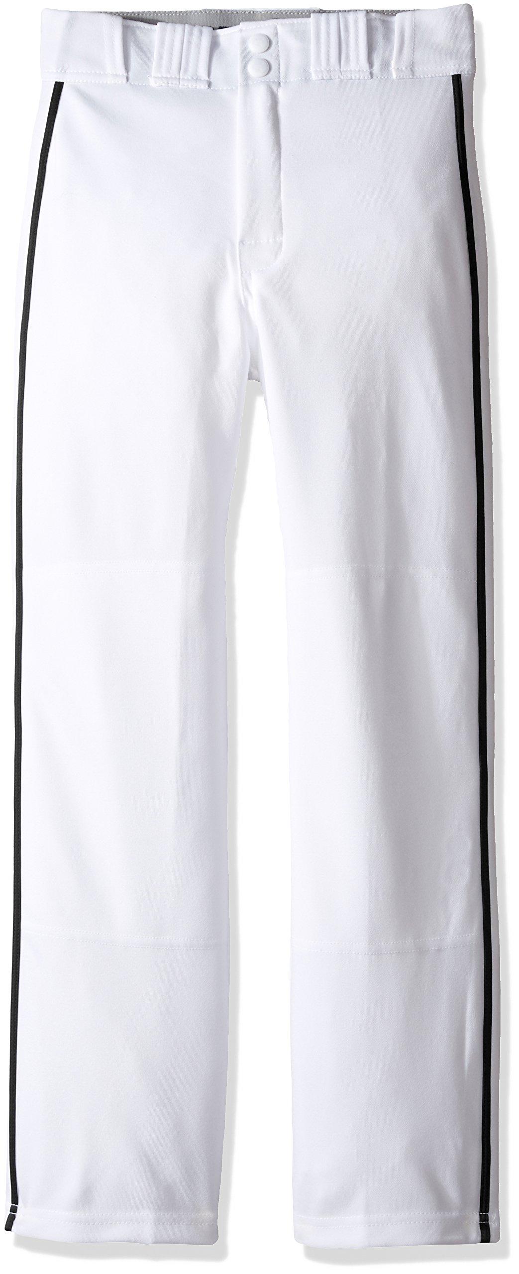 Easton Rival 2 Baseball Softball Pant | Youth | Small | White Black | 2020 | Double Reinforced Knee | Elastic Waistband w/ 2 Color Internal Logo | 2 Batting Glove Pockets | 100% Polyester
