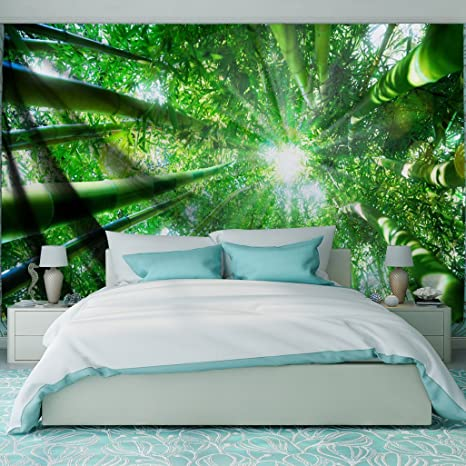 Amazon Com Qiyi Home Wall Hanging Nature Art Fabric Tapestry For Dorm Room Bedroom Living Room Decorations 60 L X 51 W 153cmx130cm The Hot Sun Bamboo Shade Home Kitchen
