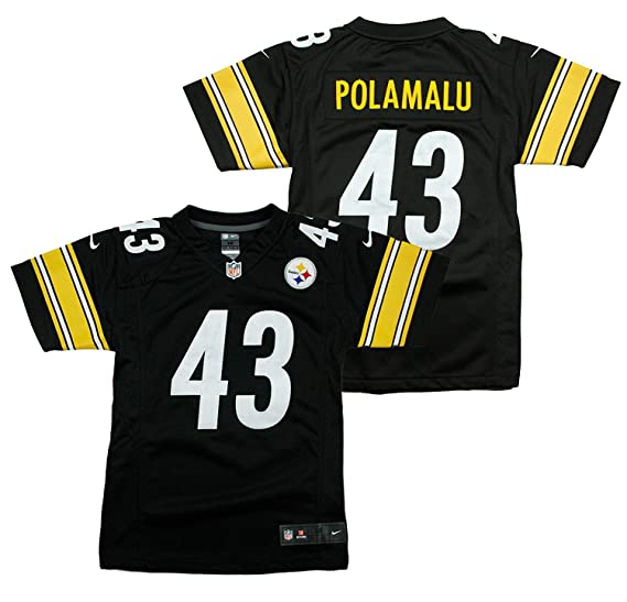 huge selection of 697b7 39ad4 Amazon.com: Troy Polamalu #43 Pittsburgh Steelers Nike Youth ...