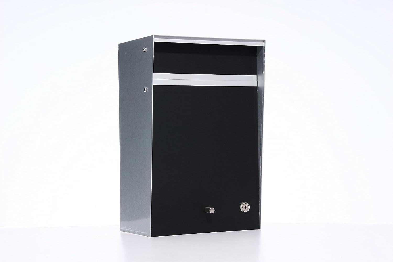 Box Design ポスト 郵便受け Wall Mounted  Black B00W6HW49U 28080 Black Black
