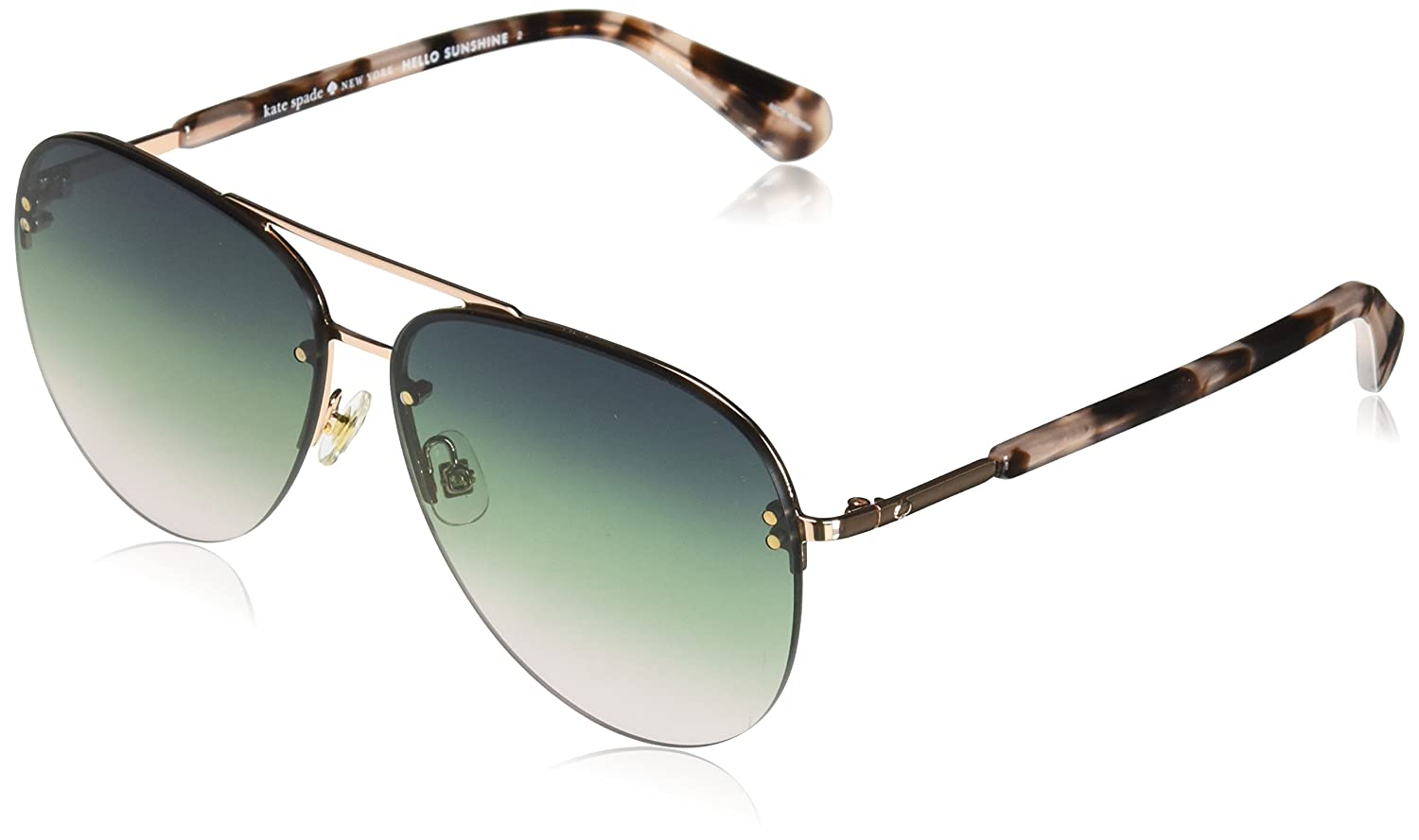 061d8a6f6 Amazon.com: Kate Spade Women's Jakayla/s Aviator Sunglasses, Blue havana,  62 mm: Clothing