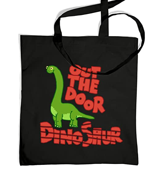Out The Door Dinosaur Tote Bag - Black One Size Tote Bag  sc 1 st  Amazon.com & Amazon.com | Out The Door Dinosaur Tote Bag - Black One Size Tote ...