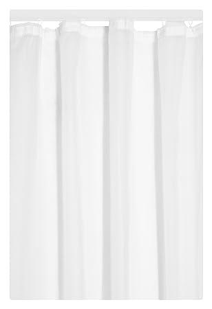 Amazonde Gardine Vorhang Transparent Kräuselband In Weiss 175x140