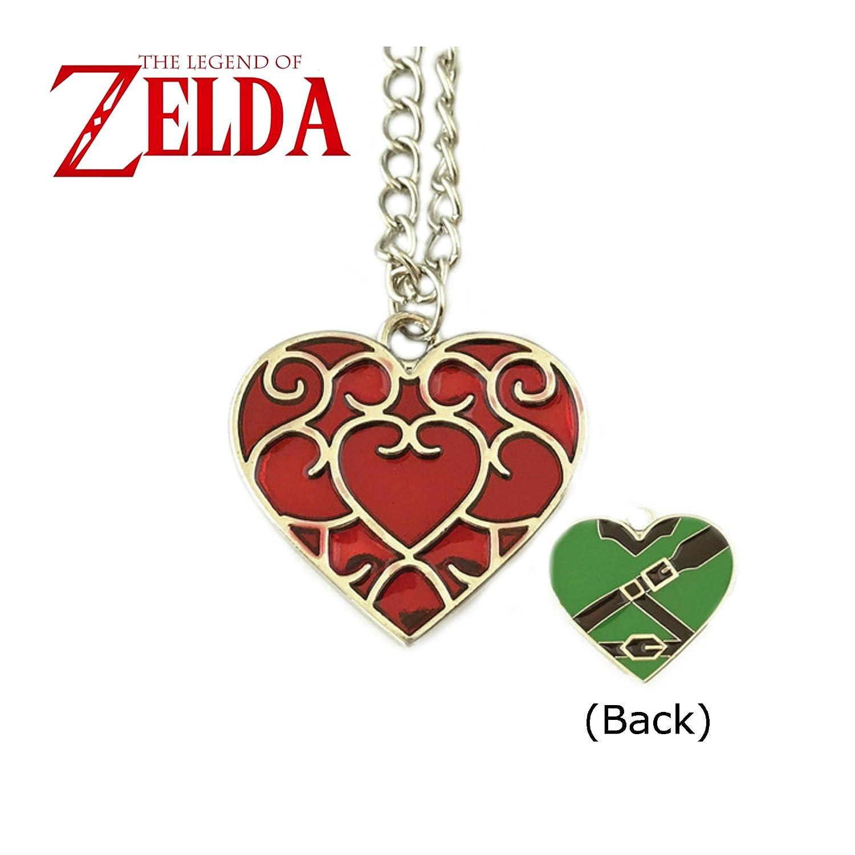 La Leyenda de Zelda collar colgante - filigrana Corazón ...