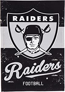 Team Sports America Oakland Raiders Vintage Garden Flag - 13 x 18 Inches
