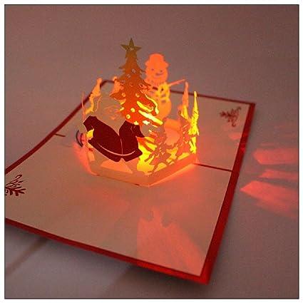 Amazon new 3d pop up greeting card axiba hand made light up new 3d pop up greeting card axiba hand made light up music gift card m4hsunfo