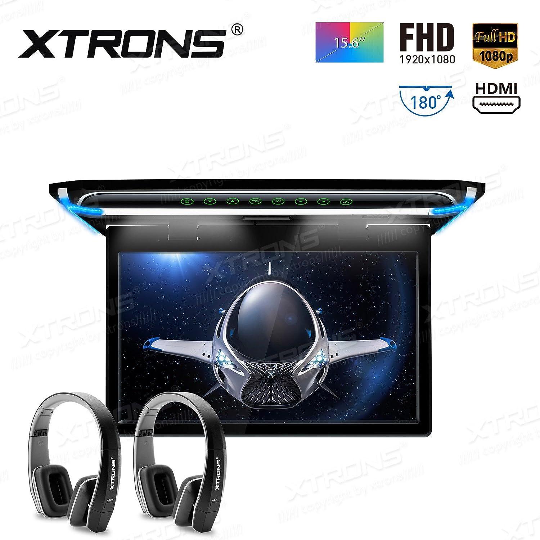 XTRONS 15.6インチデジタルTFTスクリーン超薄型FHD 1080pビデオ車オーバーヘッドPlayer屋根マウントモニターHDMIポート ブラック CM156HD+DWH005x2 B076Q4KM8T CM156HD+DWH005x2 CM156HD+DWH005x2