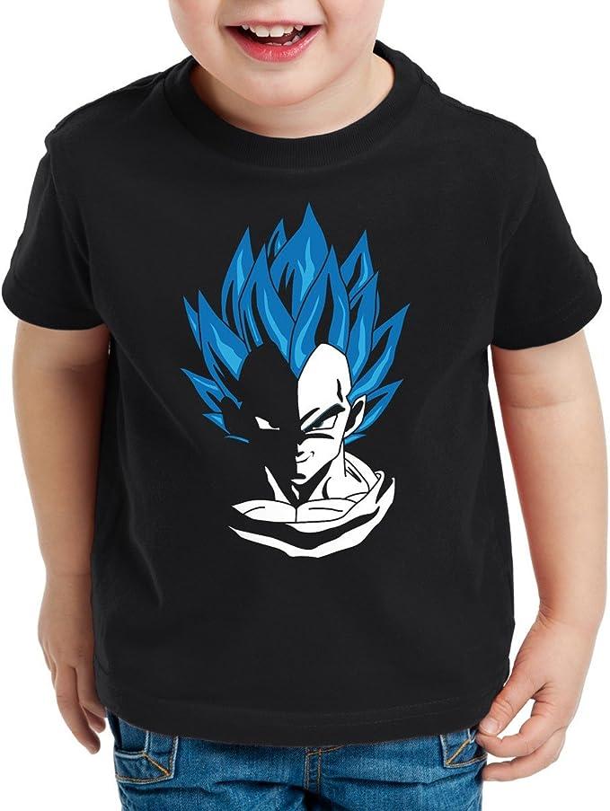 style3 Super Vegeta Blue God Modo Camiseta para Niños T-Shirt: Amazon.es: Ropa y accesorios