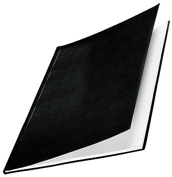 10 St/ück Leitz 73970095 Buchbindemappe impressBIND schwarz Hard Cover 28 mm A4