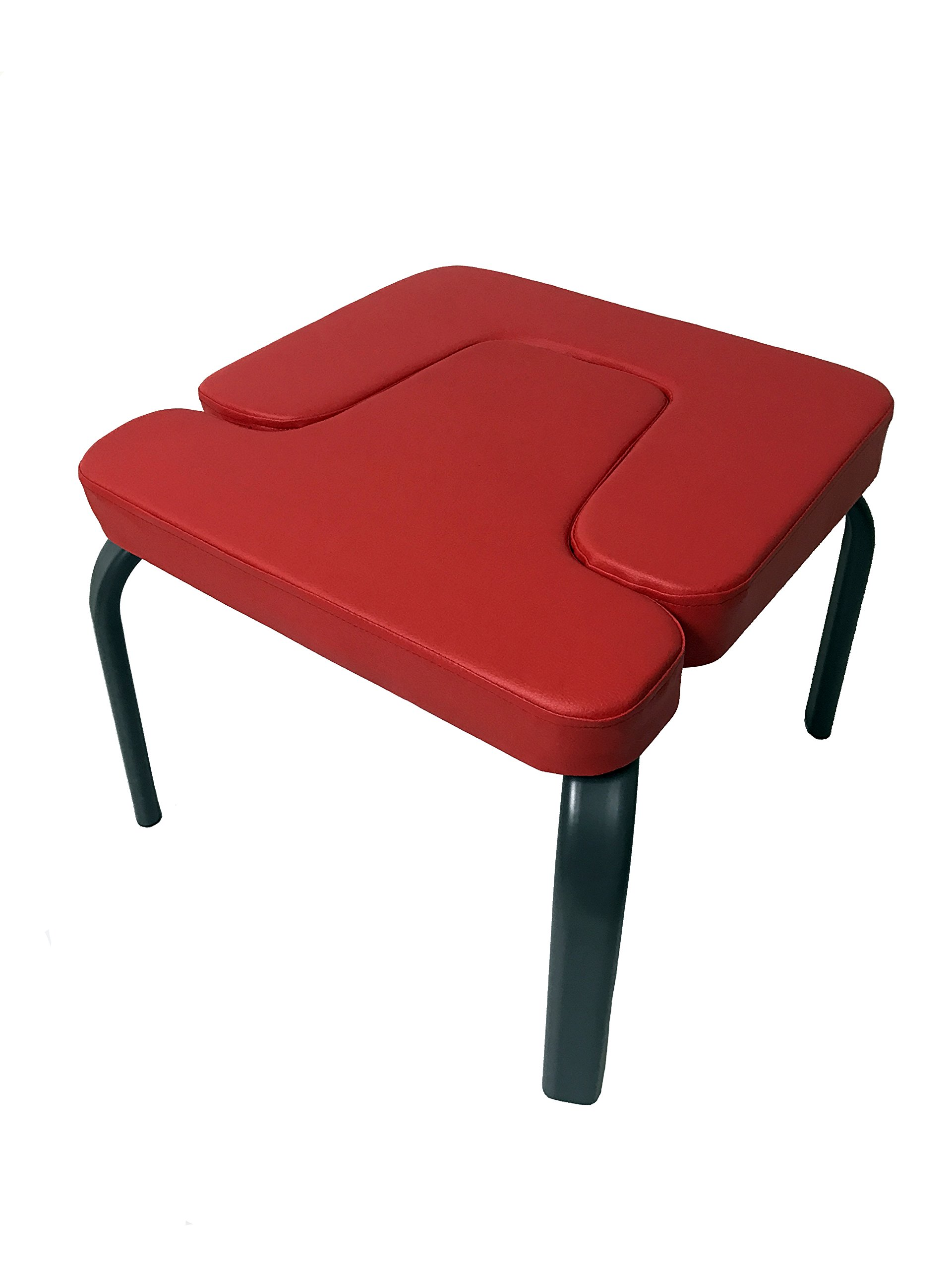Aozora Balanced Body Headstand Bench- Ideal Chair for Practice Head Stand, Shoulderstand, Handstand and Various Yoga Poses. | Perfect for Both Beginner and Experience Yogis (red)