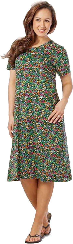 LA CERA Cotton Knit A-line Dress in Pixie Garden