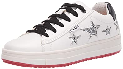 Geox Sneaker j XLED Girl 31 Pink Black: Amazon.in