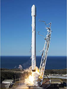 Space SpaceX Falcon 9 Rocket Launch Lift Off Photo Large Wall Art Poster Print Thick Paper 18X24 Inch