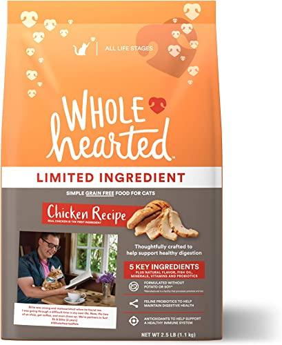 WholeHearted Grain Free Limited Ingredient Chicken Recipe Dry Cat Food for All Life Stages
