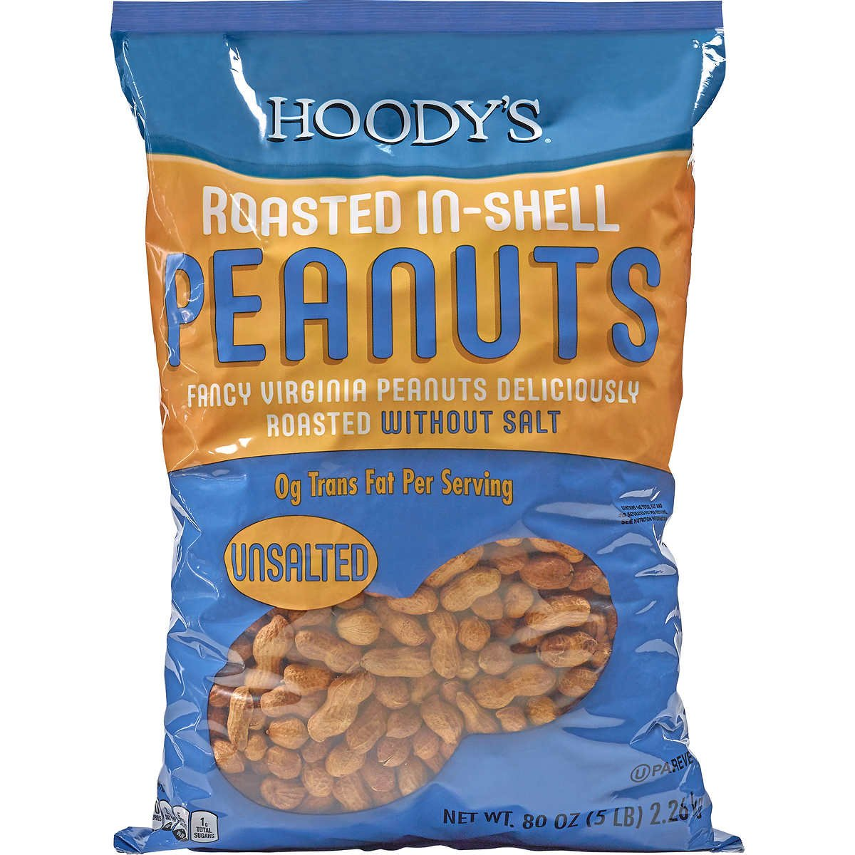 Hoody's In-Shell Classic Roast Peanuts Unsalted-5 lbs