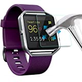 AWINNER ,Fitbit Blaze Glass Screen Protector Premium HD Clear Tempered Glass with Free Lifetime Replacement Warranty / Ultra High Definition Invisible and Anti-Bubble Crystal Shield (1-Pack)