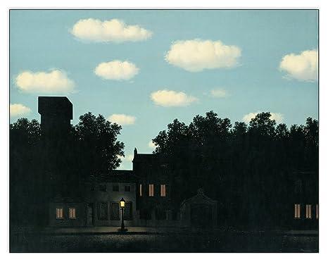 L Impero Delle Luci Magritte.Amazon Com Artopweb Magritte L Impero Delle Luci