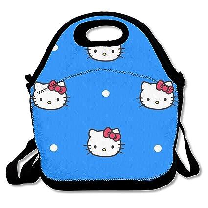 0d1b71bcaaed Amazon.com - Meirdre Lunch Box Blue Hello Kitty Insulated ...
