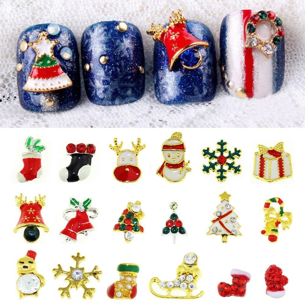 Blueness Mix 28pcs 3D Chrismas Nail Art Alloy Crystal Rhinestone Decorations BNP003 Yiwu Blueness BNP004