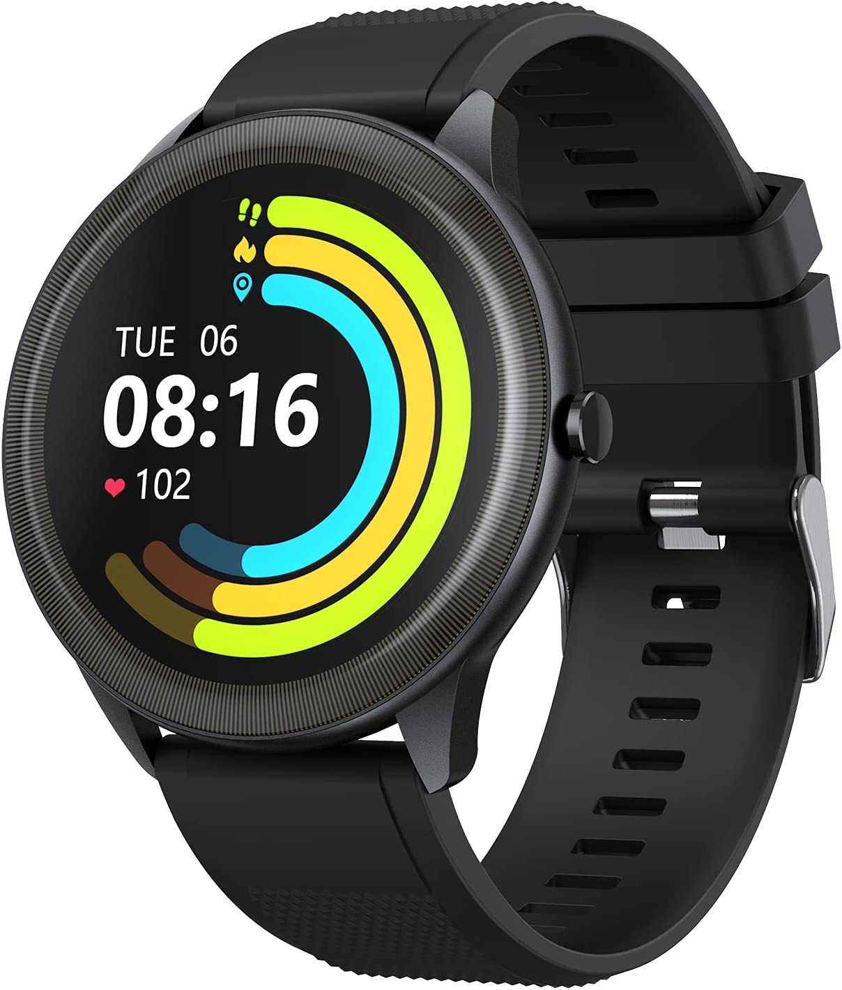 Vigorun Smart Watch for Android Phones Fitness Tracker with Heart Rate Monitor Step Counter Sleep Tracker, Music Control, IP68 Waterproof Smart Watch for Men Women, Compatible with iPhone Samsung