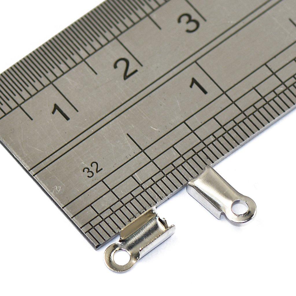 Sharplace Lot 200pcs Tube de Laiton Sertissage Extr/émit/é Fermoir pour Fabrication de Bijoux DIY