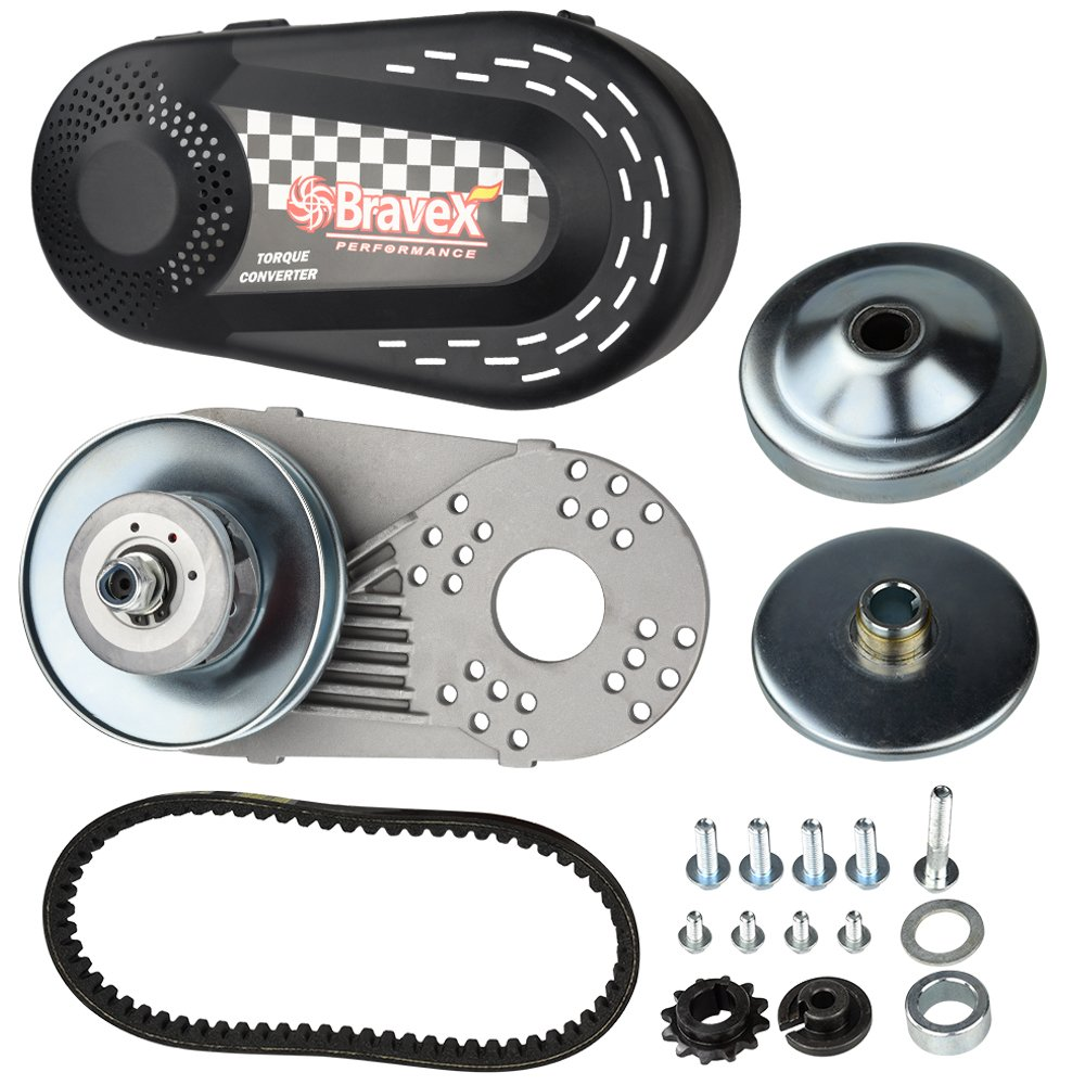 Bravex Torque Converter Go Kart Clutch Set 3/4'' 10T 40/41 and 12T 35 Chain for Manco Comet TAV2 (30 Series)