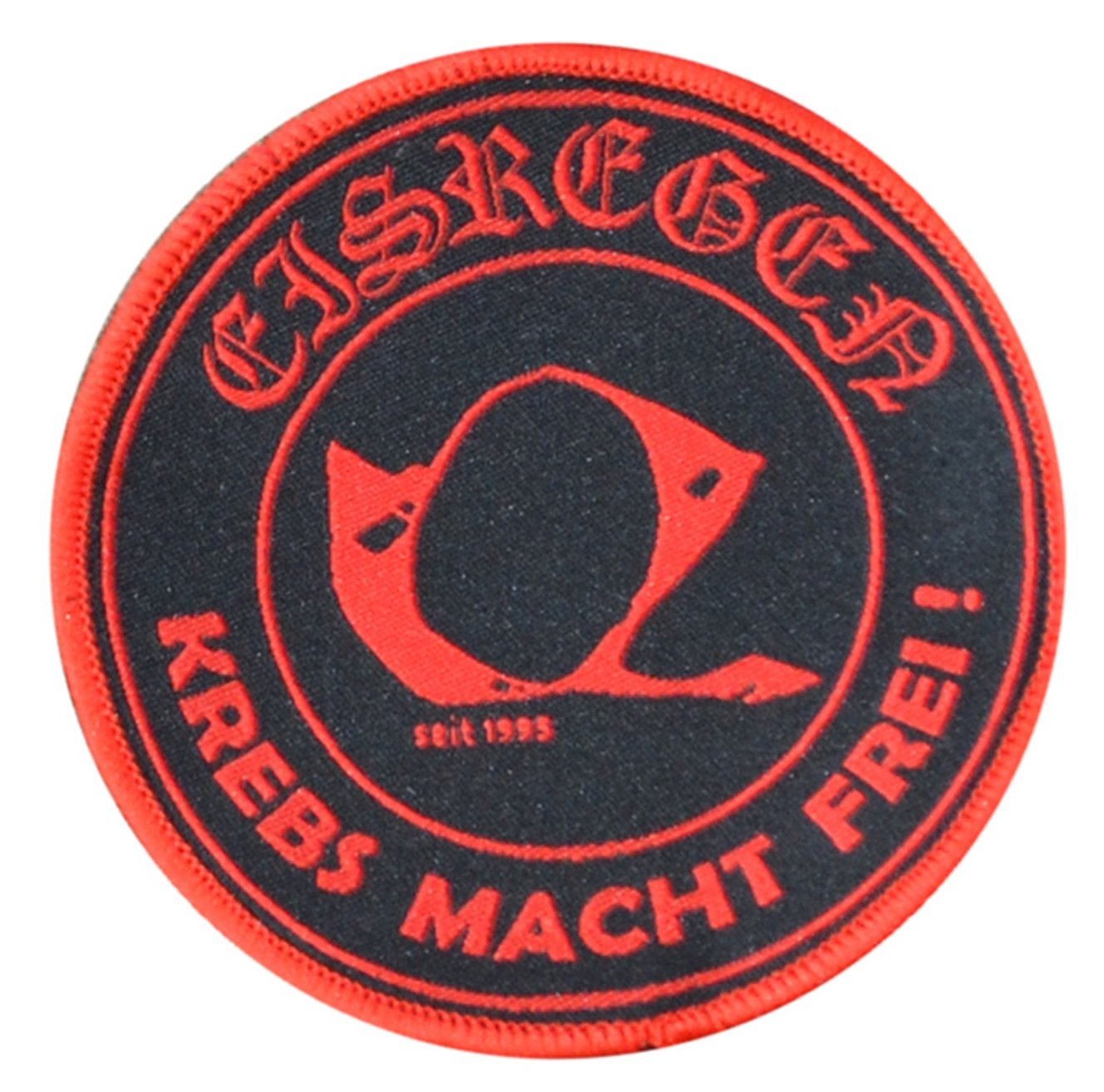Krebs Macht Frei EISREGEN 9,5 cm Aufn/äher // Patch ca