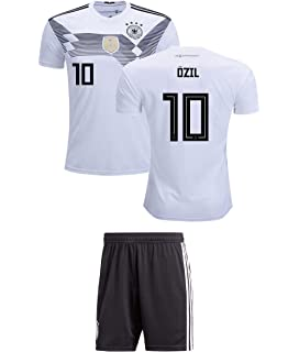 ffa78abf7 Panini Group Ozil  10 Germany Kids Soccer Jersey Kit Home Short Sleeve  Youth Sizes Gift