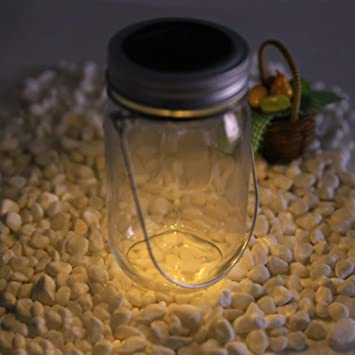 Buyi World 4 Led Solarglas Solarlampe Solarleuchte Solar Einmachglas
