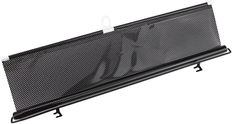 Pare-brise pare-brise pare-soleil r/étractable housse de rideau pare-soleil noir 125x58cm